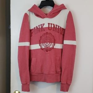 VS Pink University hooded Sweatshirt rose pink